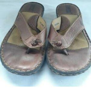 Born Women's Brown Thong Flip Flop Sandals Size 7